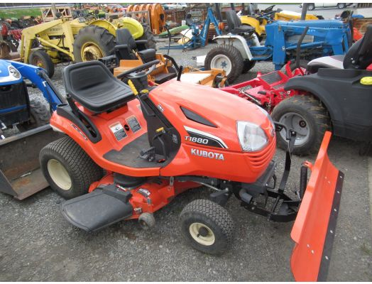 Kubota T1880 lawn tractor with blade
