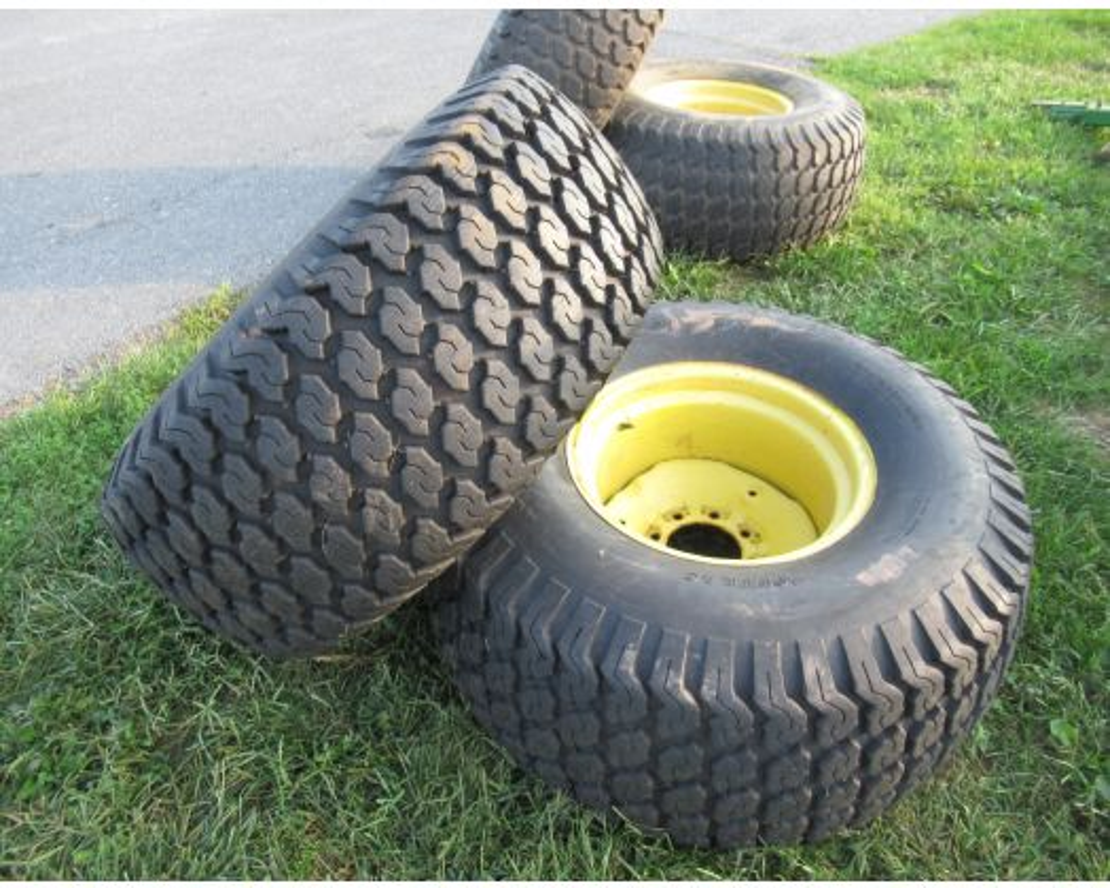 John Deere turf tires on rims