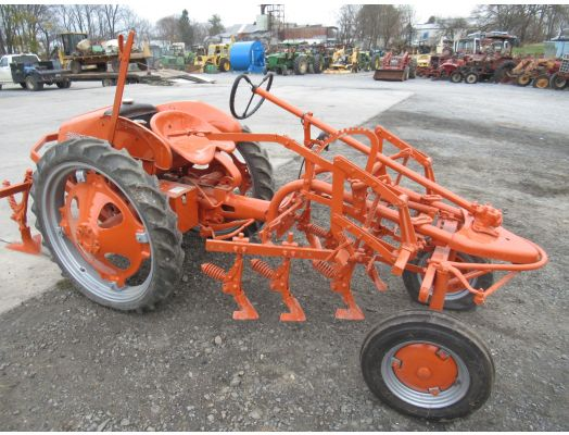 Allis Chalmers G tractor with cultivator