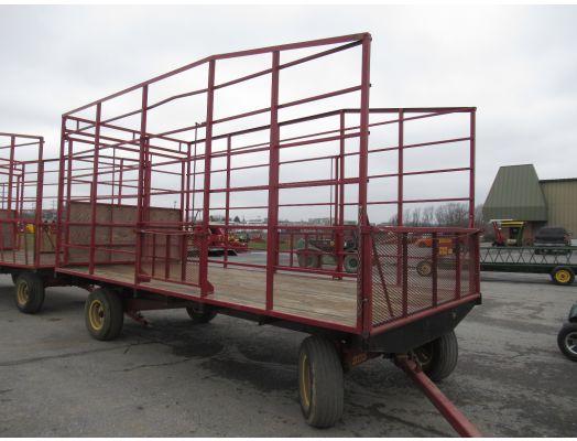 Pequea 18' metal hay rack wagon