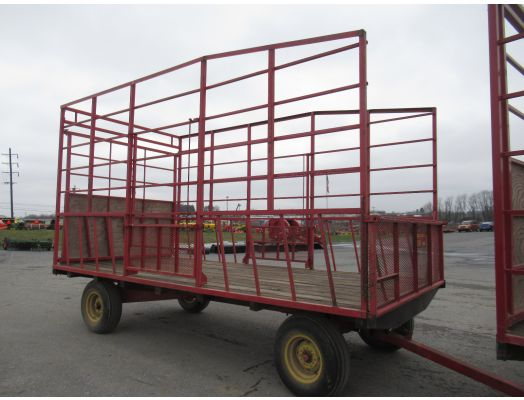 Pequea 16' metal hay rack wagon