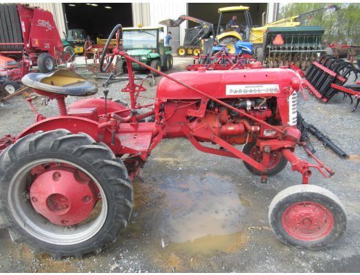 Farmall Cub tractor with snow blade