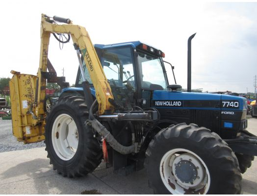 Ford 7740 SLE with boom mower